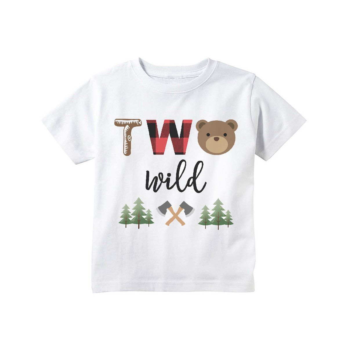 Two Shirt Woodland Birthday Party Second Birthday Outfit Boy Fox Shirt Second Birthday Boy Two Wild Shirt Woodland Birthday Shirt