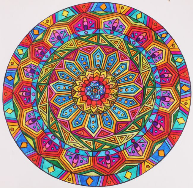 colorful mandalas httpswwwfacebookcompageshealthy