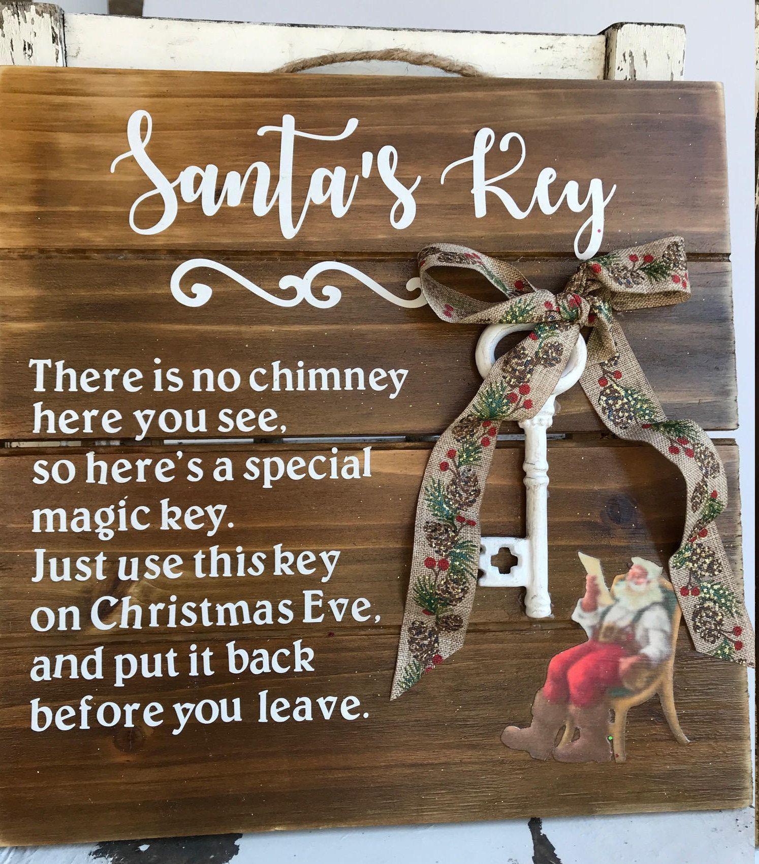 Santas Key Key for Santa Christmas Eve Key for Santa No Chimney Santas Magic Key Chri Santas Key Key for Santa Christmas Eve Key for Santa No Chimney Santas Magic Key Chr...