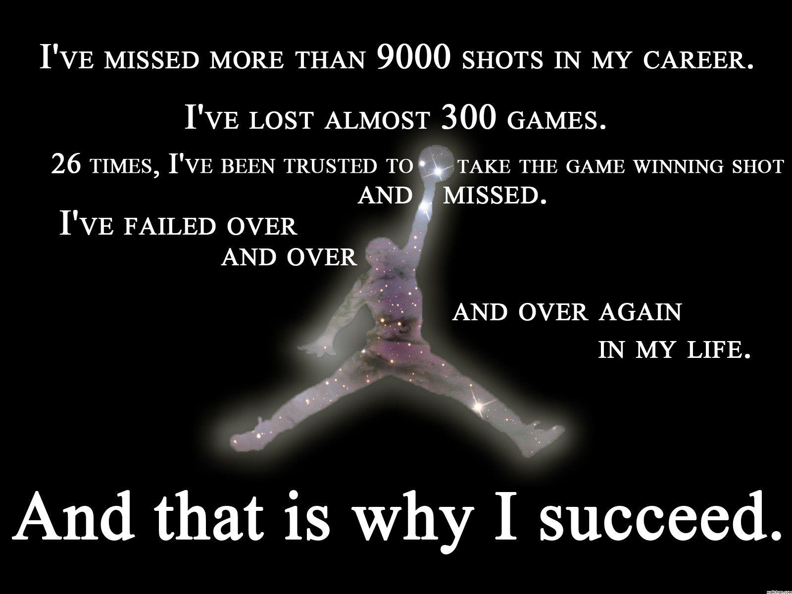 Michael Jordan Famous Quotes Michaeljordan 's Most Famous Quote  Motivation  Mindset