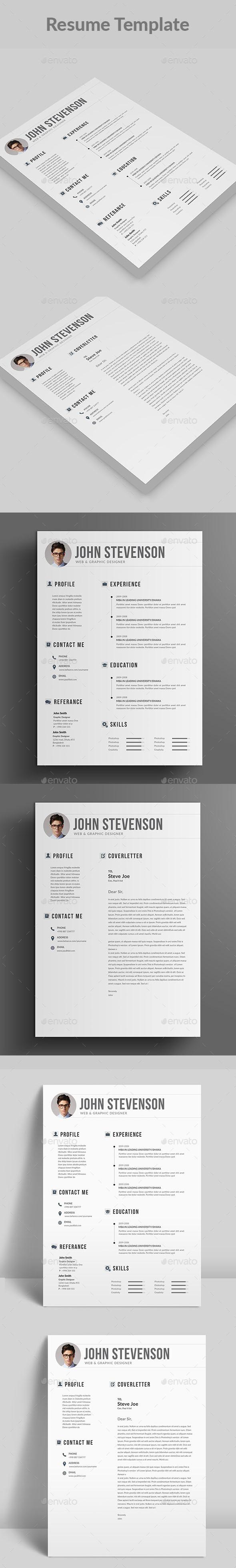 Resume — PSD Template #resume booklet #multipurpose • Download ...