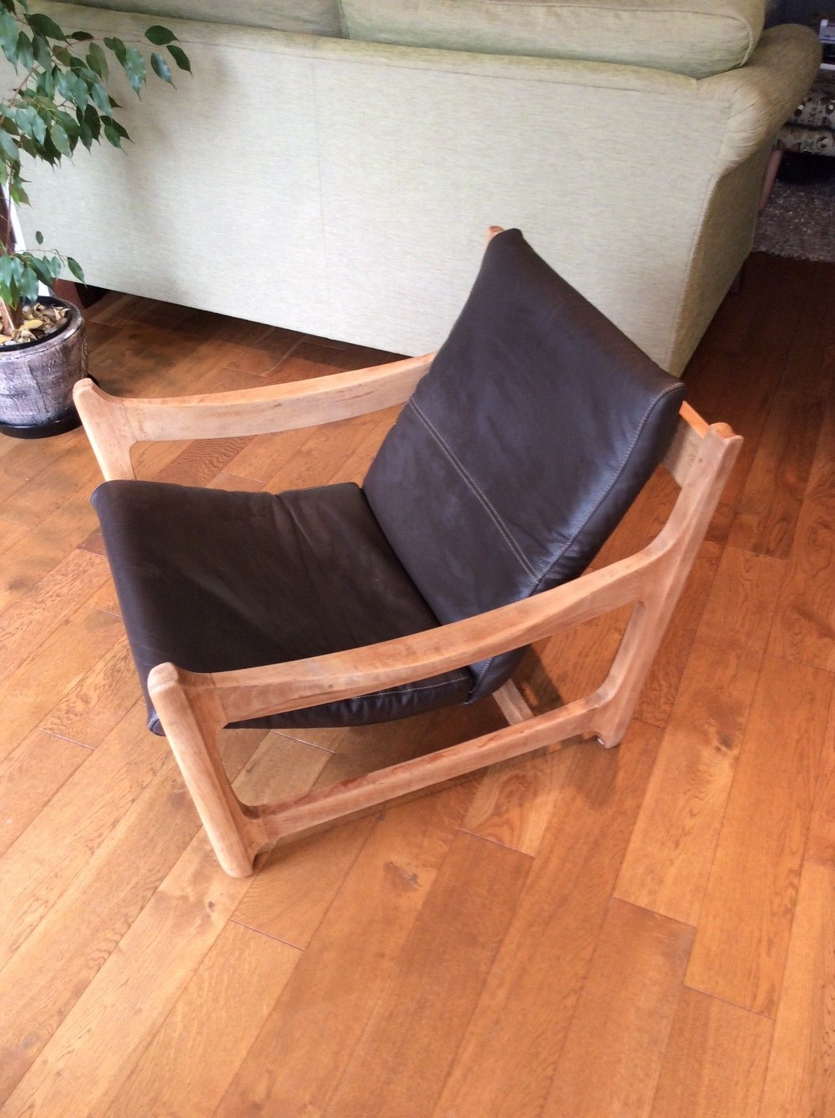 Ercol Lounge chair made from English Elm.Not original