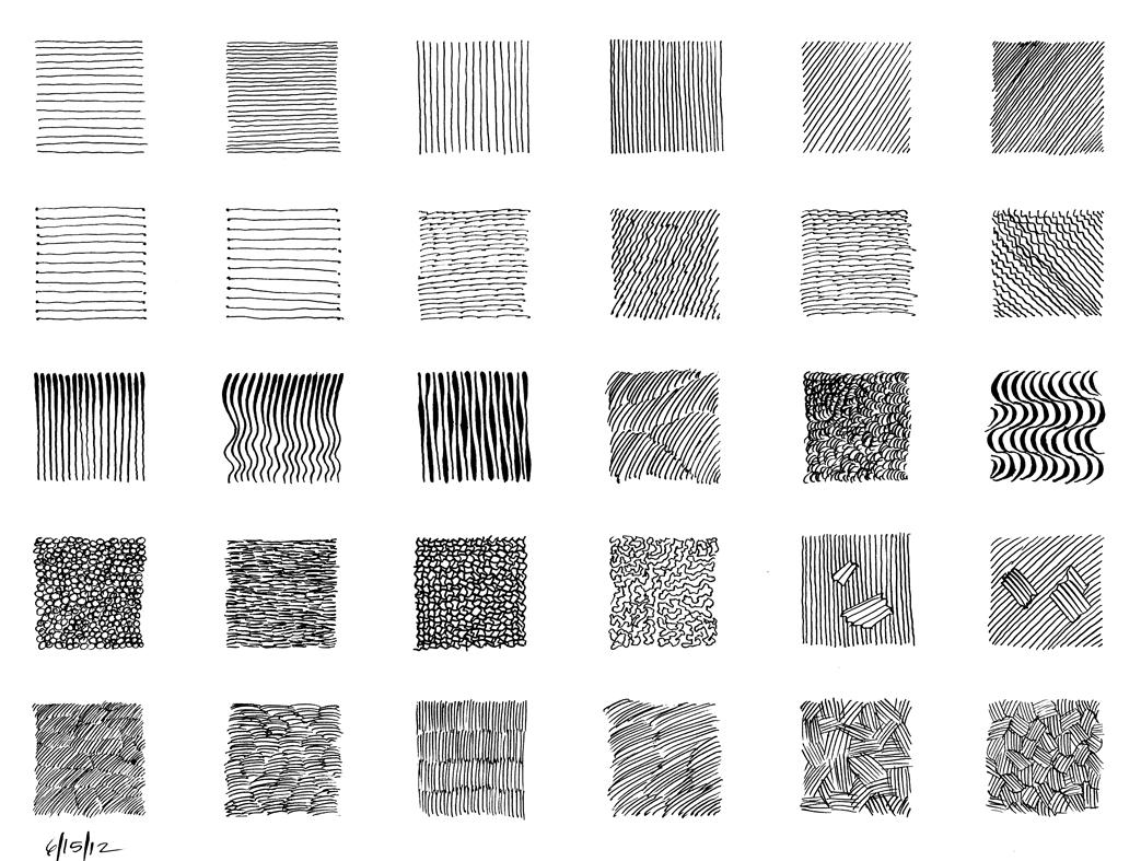 Line Art Techniques : Texture rendering curtisfir clases de dibujo