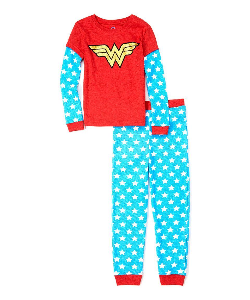 Love this Wonder Woman Glitter Pajama Set - Girls by Wonder Woman on #zulily! #zulilyfinds