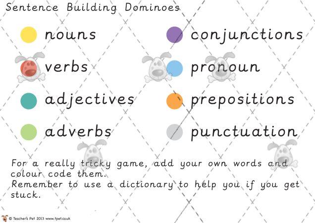 writing sentences games