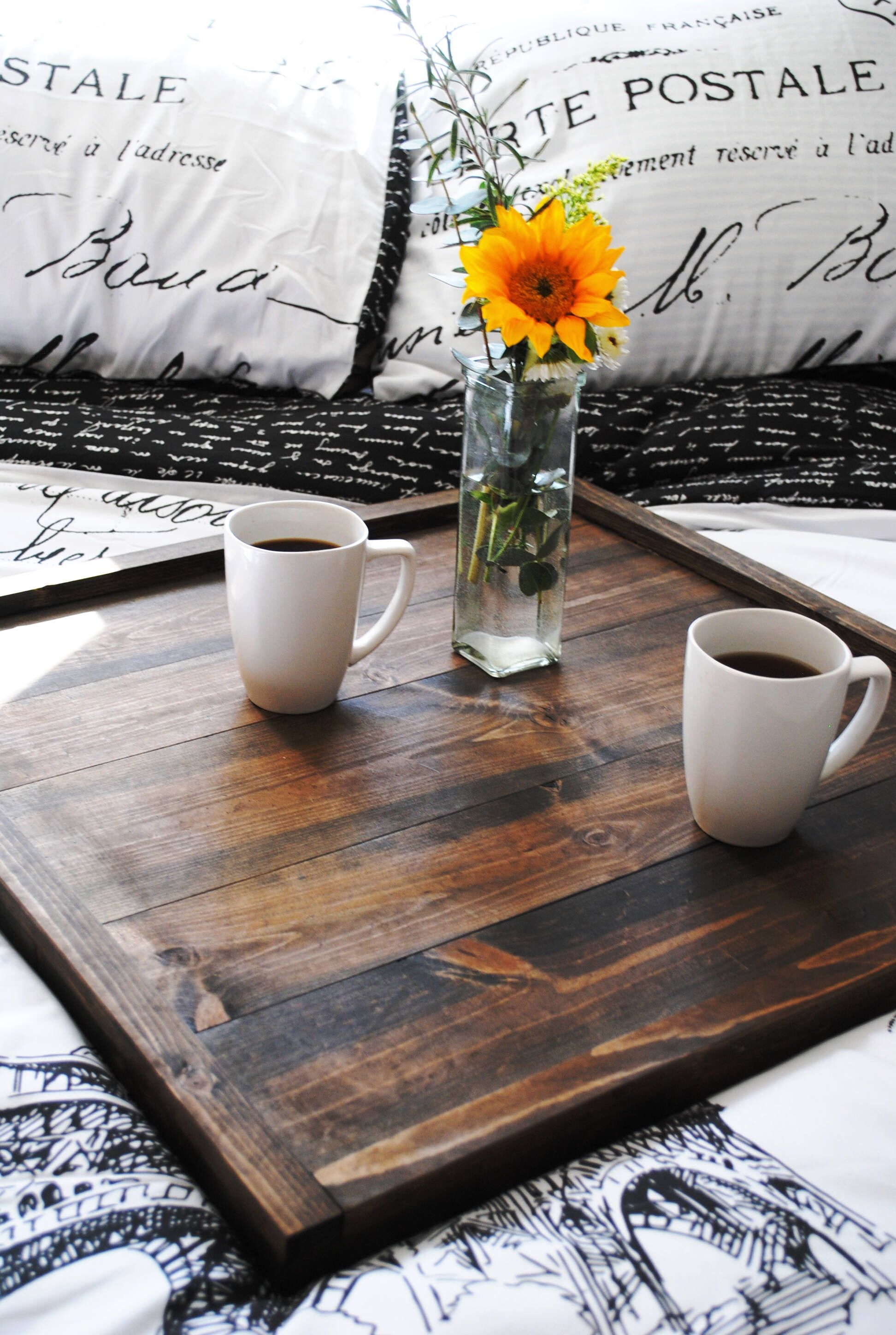 Large Ottoman Tray Square Coffee Table Rustic