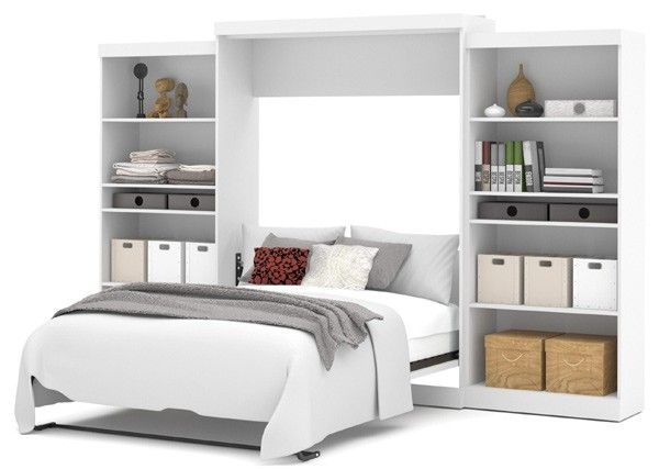 Best Bestar Pur White 136 With Images Queen Murphy Bed 640 x 480