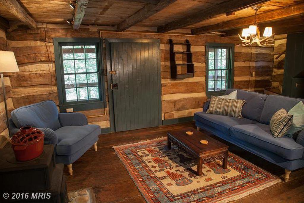 1850s Hand Hewn Cabin  900 square feet log cabin built