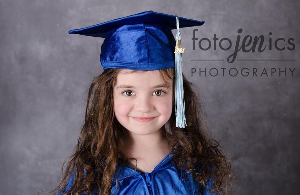 Preschool graduation portraits, cap and gown | Fotojenics ...