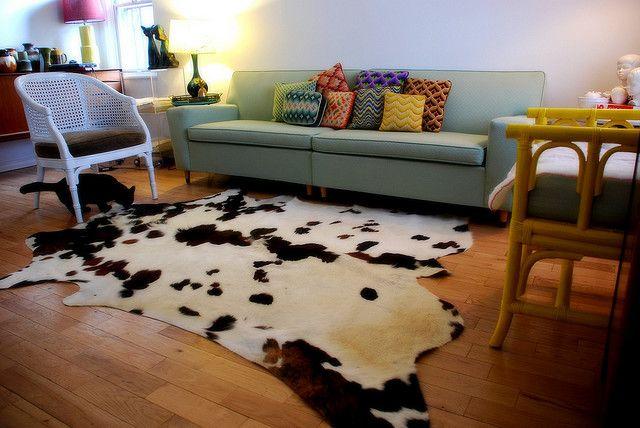 Finally Bought A Cowhide Rug Cow Hide Rug Cowhide Rug Living Room Rugs
