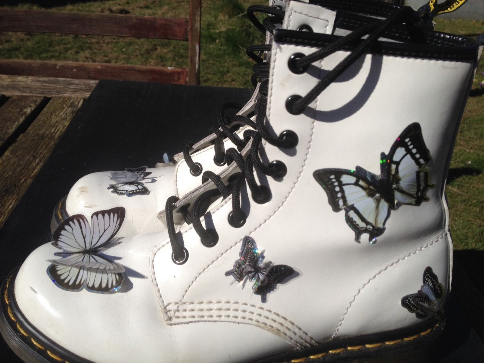 Doc Martens White Patent Leather Ankle