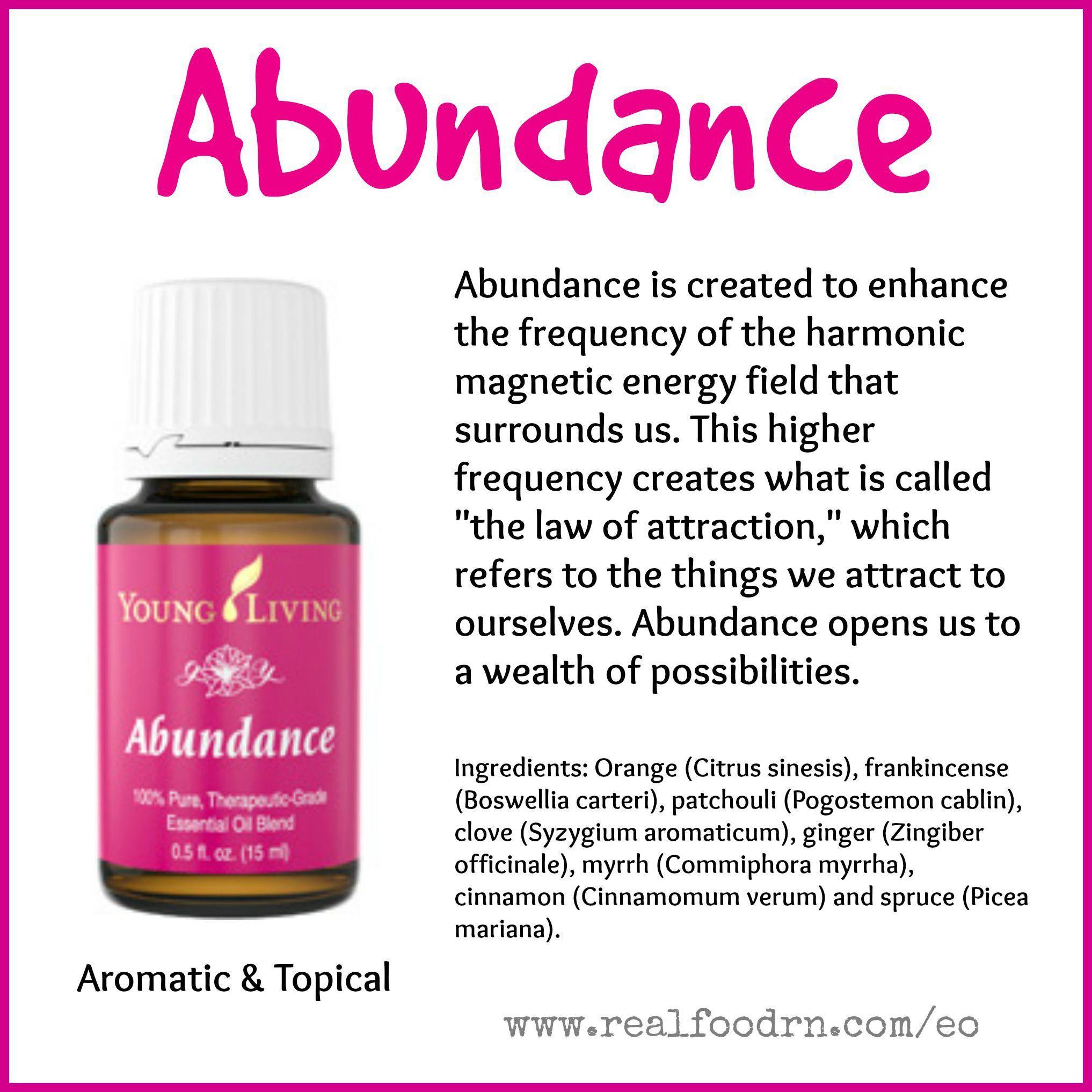 Attract Abundance Essentialoils Abundance Essential