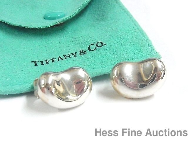 cb95afd7a Vintage Tiffany Co Paloma Picasso Lge Sterling Silver Kidney Bean Earrings