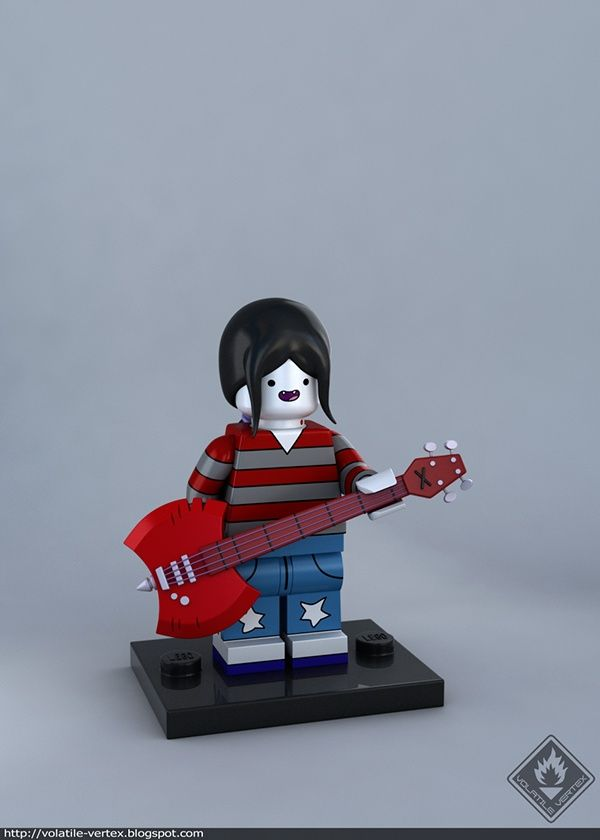 Adventure Time   Marceline LEGO   lego   Pinterest   Adventure time     Adventure Time   Marceline LEGO
