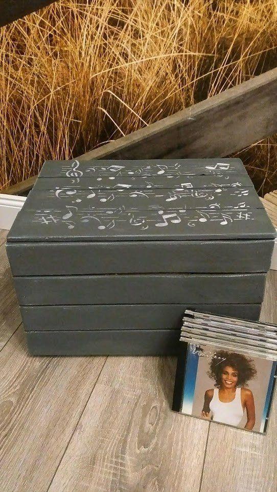 Musikbox Musicbox Musikiste Cds Kassetten Couchtisch