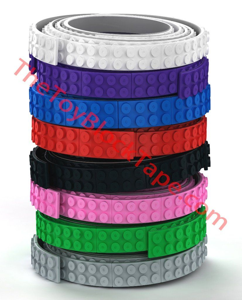 The Toy Block Tape Flexible Cuttable 3d Adhesive Lego Tape