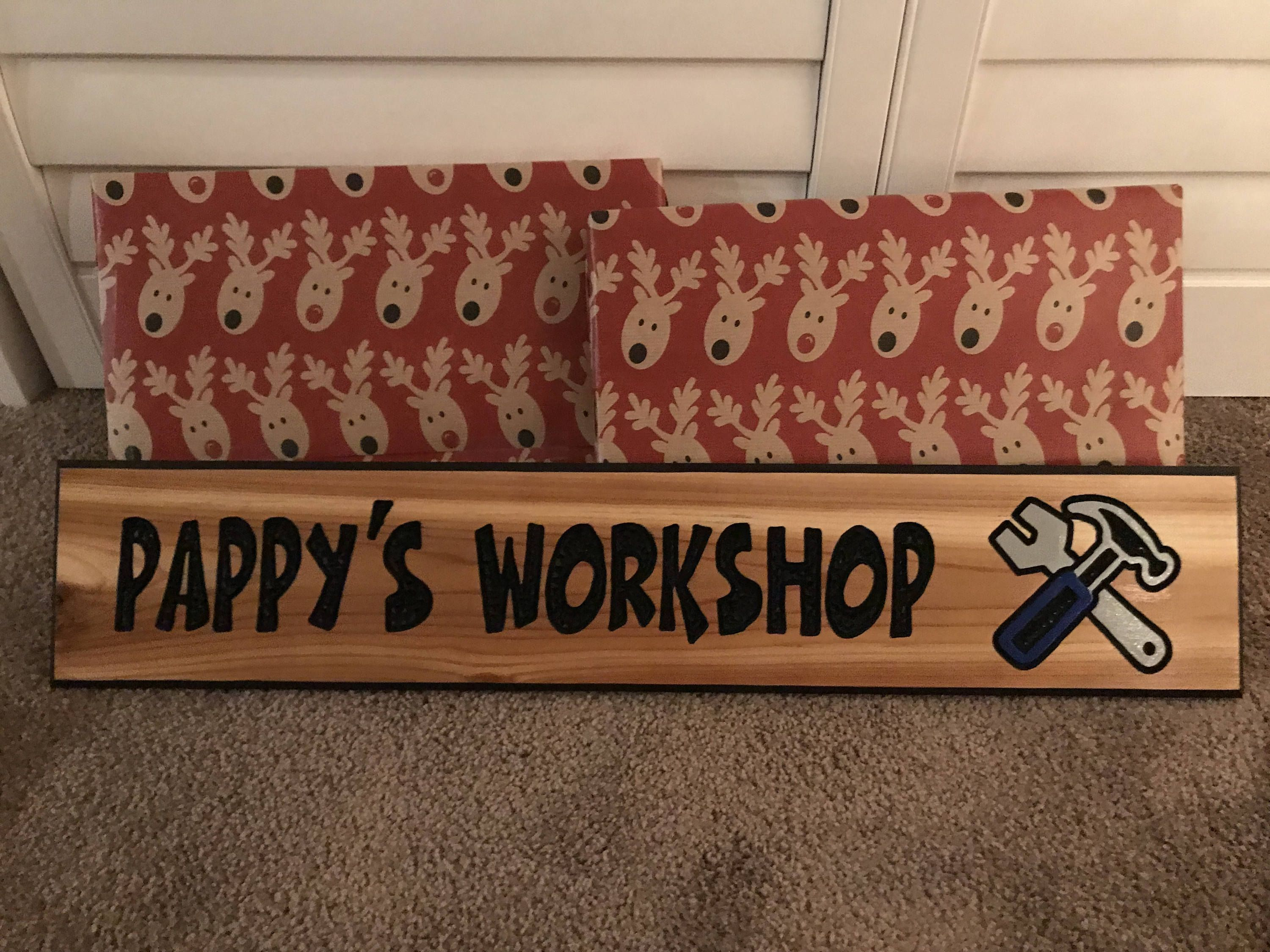 Workshop Sign Personalized Wood Signname Wood Carved Signhandmade