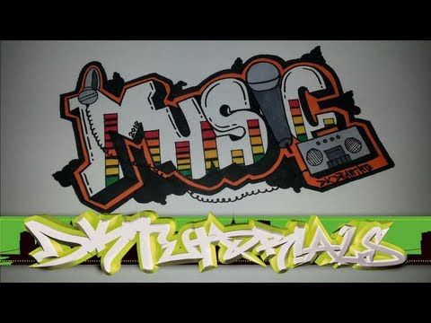 Step By Step How To Draw Graffiti Letters Music