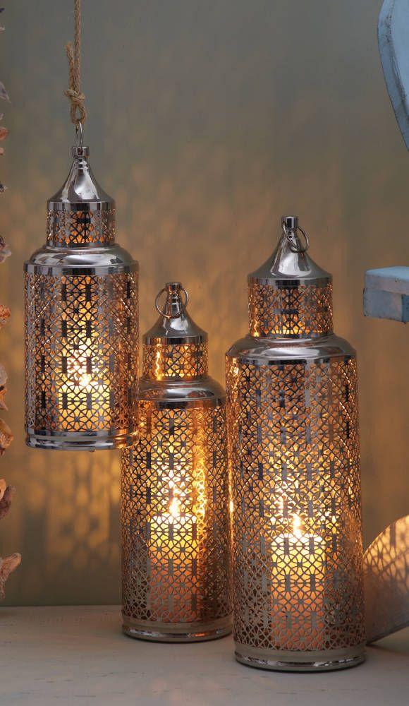 Light House Set of 3 Lanterns - Two's Company - $285.00 - domino.com #dominomag #pintowin