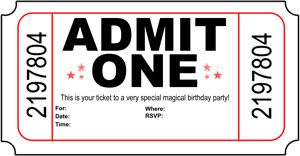 Free printable Admit One Birthday Invitations Great for carnival