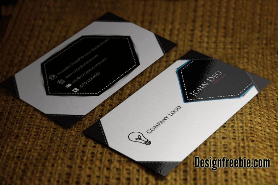 Visiting Card Black And White Template  Free Business Cards