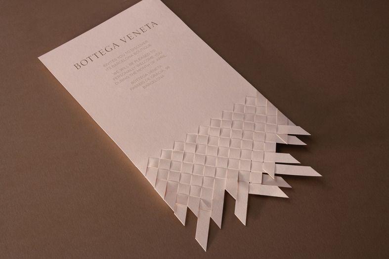 Bottega Veneta Invitation Design - Collected Visuals designed by Marnich Associates for the opening of Bottega Veneta's flagship store in Barcelona.