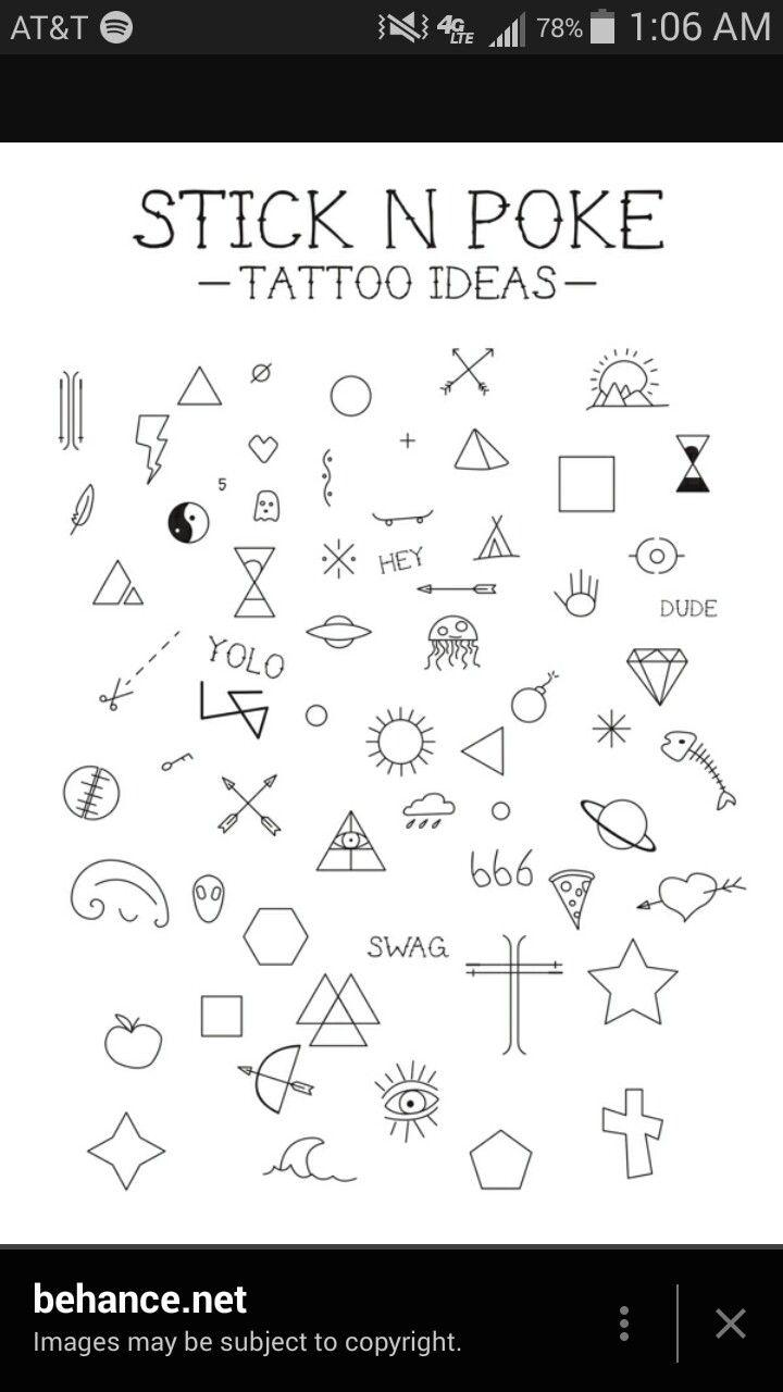 Stick N Poke Stick N Poke Tattoo Poke Tattoo Small Tattoos