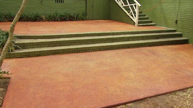 Warm Up Your Concrete Patio With A Translucent Stain Like This Terra Cotta  Color From Quikrete