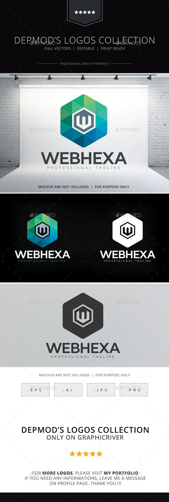 Web Hexa Logo — Vector EPS winner business • Available