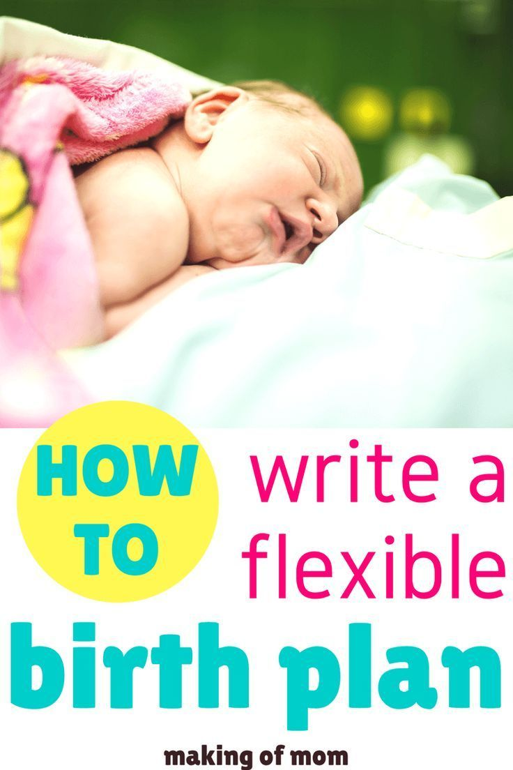 have you got a birth plan while its important to stay flexible having a