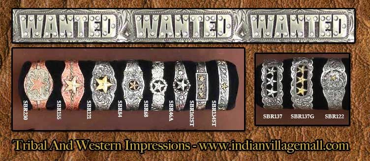 Wanted Western German Silver Bracelets From The Texas Rangers