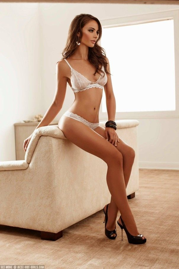 Ultra hot Nicole Meyer in white lingerie : Best-Hot-Girls.com!