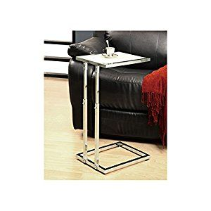 Amazon.com: Monarch Specialties Metal Adjustable Height Accent Table, 18-Inch, Chrome: Kitchen & Dining