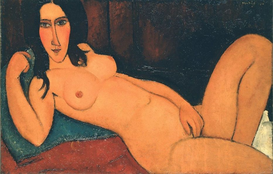 Of protrait history reclining nude modiglianis