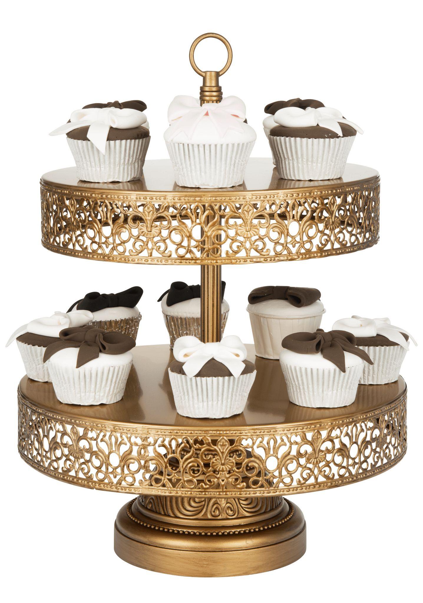 2tier dessert stand gold victoria collection tiered
