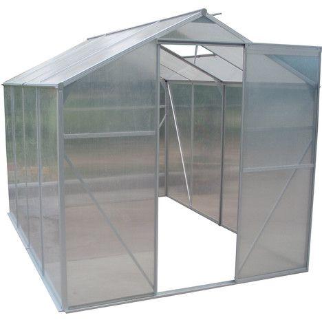 Serre De Jardin Polycarbonate 4 75m 4mm Aluminium A Prix Auchan Pas Cher Et Discount Serre De Jardin Polycarbonate Serre Jardin Polycarbonate