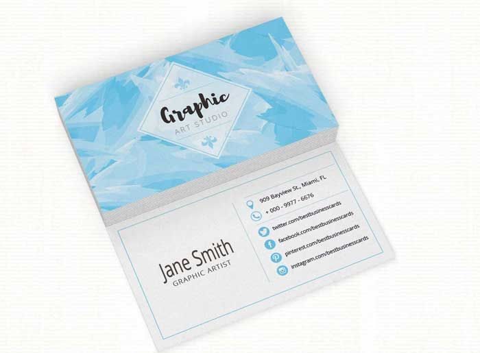 4 free art studio business card templates graphic design 4 free art studio business card templates reheart Choice Image