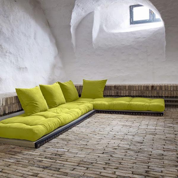 Sofá cama Chico verde pistacho | Muebles ecológicos | Pinterest ...
