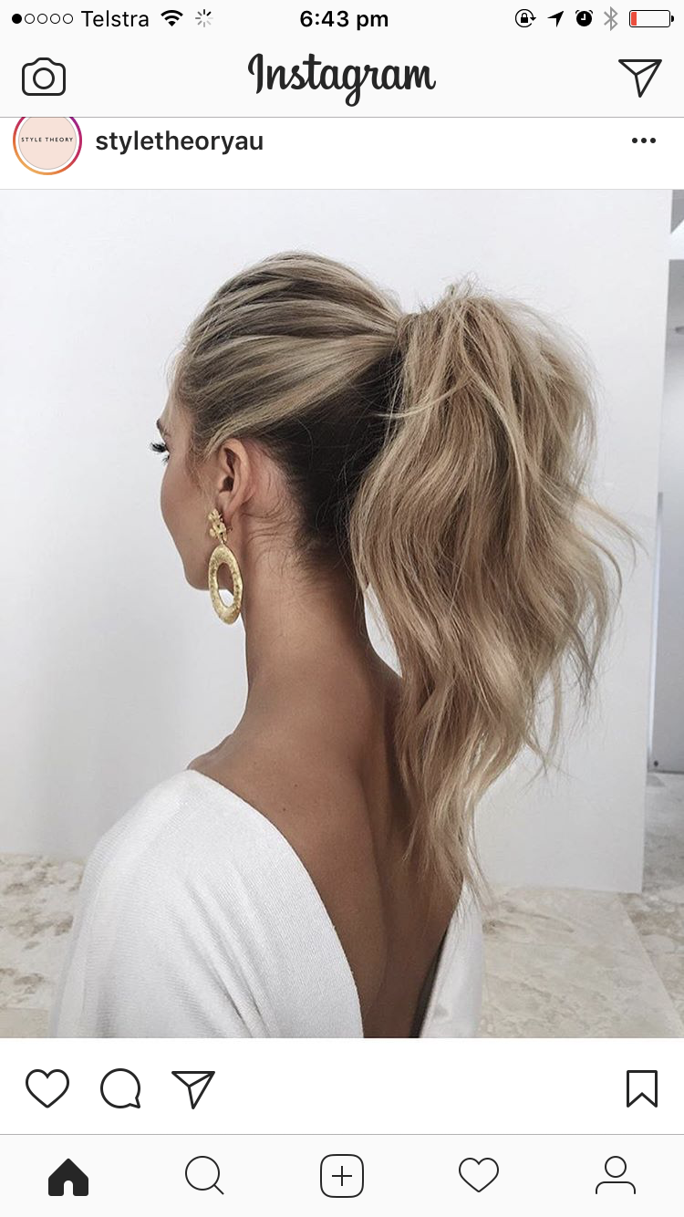 Hair For A Wedding Guest Hairstyles Hair Styles Hair Ponytail