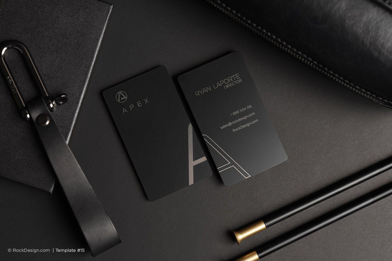 pilot cool black metal simplicity business card black metal business cards and business