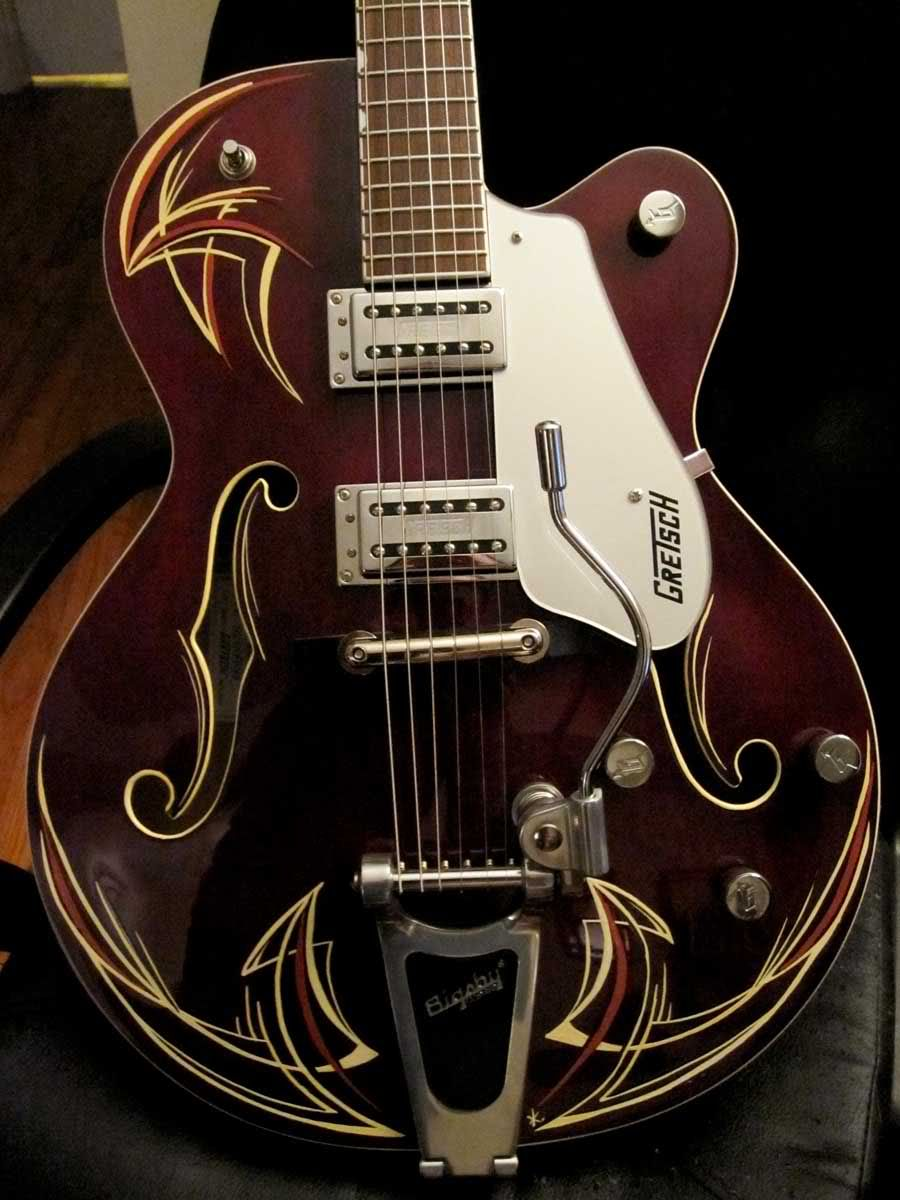 What Is Your Opinion Of Pinstriping Guitar Gretsch Rockabilly