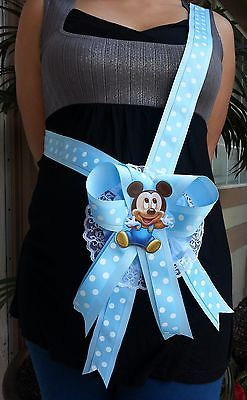 Details About Baby Shower Mickey Mouse Mom To Be It S A Boy Sash