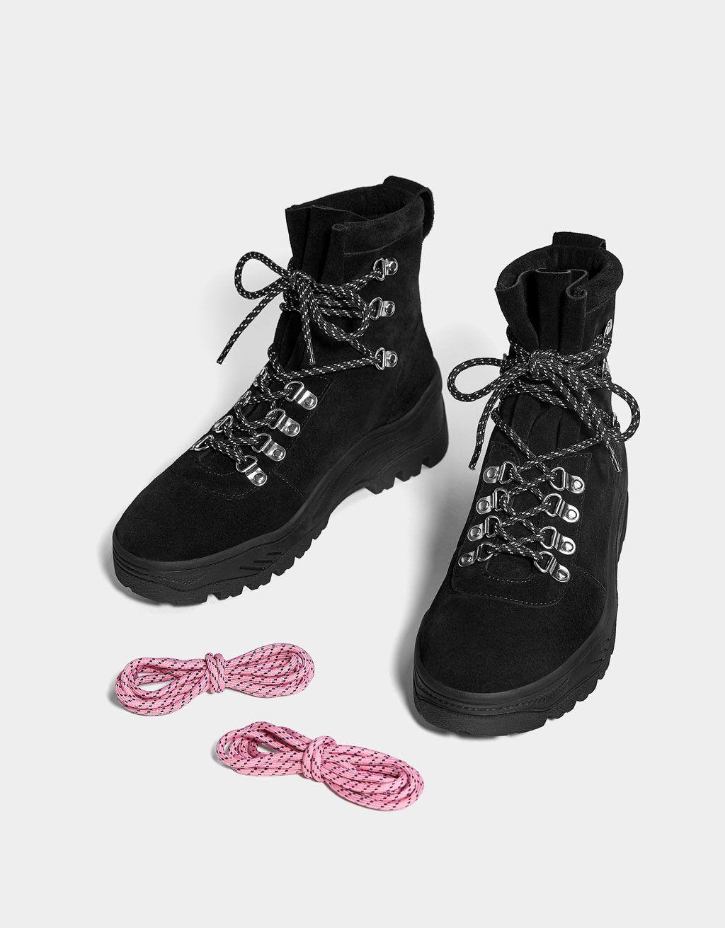 2e02ddff54b5b KOŽENÉ členkové čižmy s traktorovou podrážkou | s | Shoe boots ...