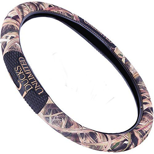 Ducks Unlimited Twogrip Steering Wheel Cover Mossy Oak Shadow Grass Blades Camouflage Microfiber Fabric Rubber Steering Wheel Cover Wheel Cover Ducks Unlimited