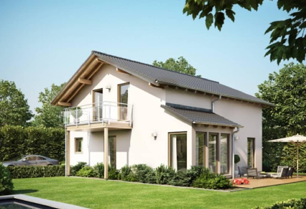 Moderne fassaden einfamilienhäuser satteldach  Solution 151 – V6 - Living Haus - http://www.hausbaudirekt.de/haus ...