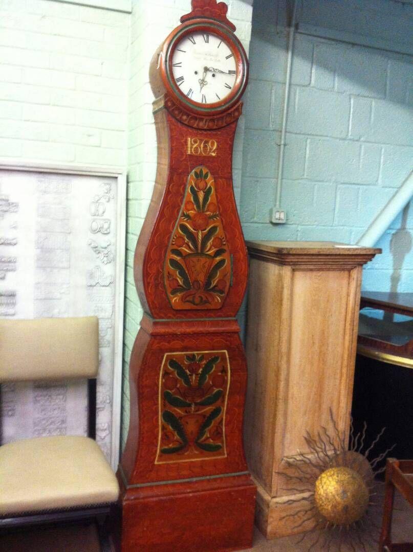 Swedish Farm Clock, coming in March!   #AshersAntiques #Antiques www.ashersantiques.com
