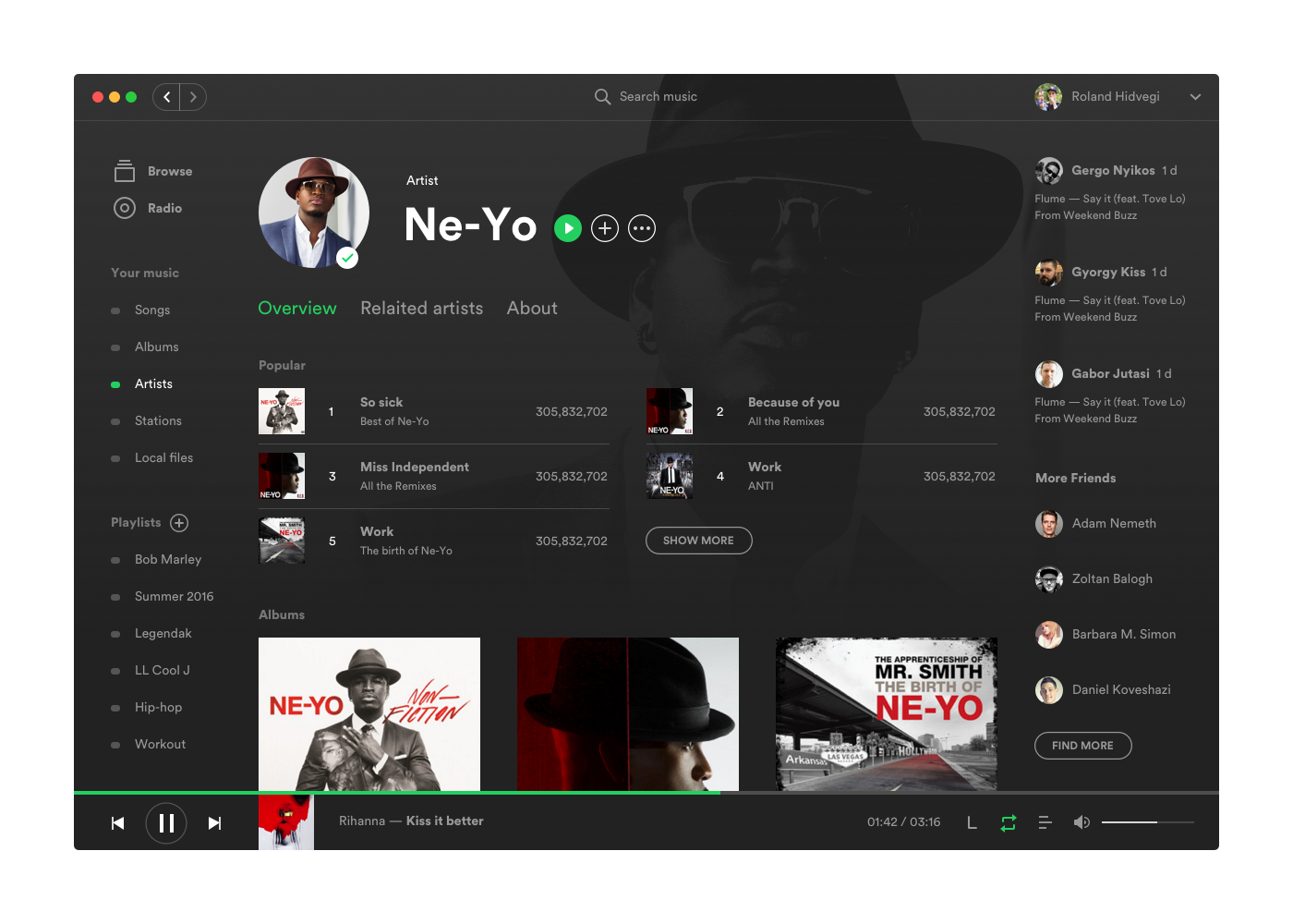 Spotify App Facelift on Behance