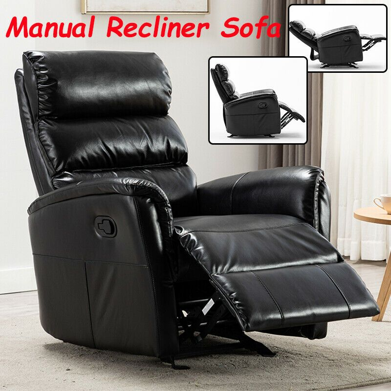 Manual Recliner Chair Sofa Leather Lounge Living Room Furniture Theater Seat Sofas Living Room Ideas O In 2020 Microfiber Couch Manual Recliner Sofa Leather Lounge