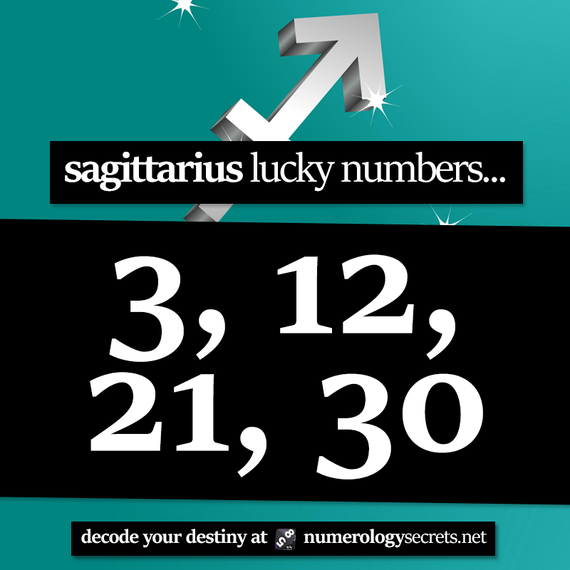 Sagittarius Lucky Numbers Sagittarius Lucky Numbers Zodiac Sign Facts Numerology