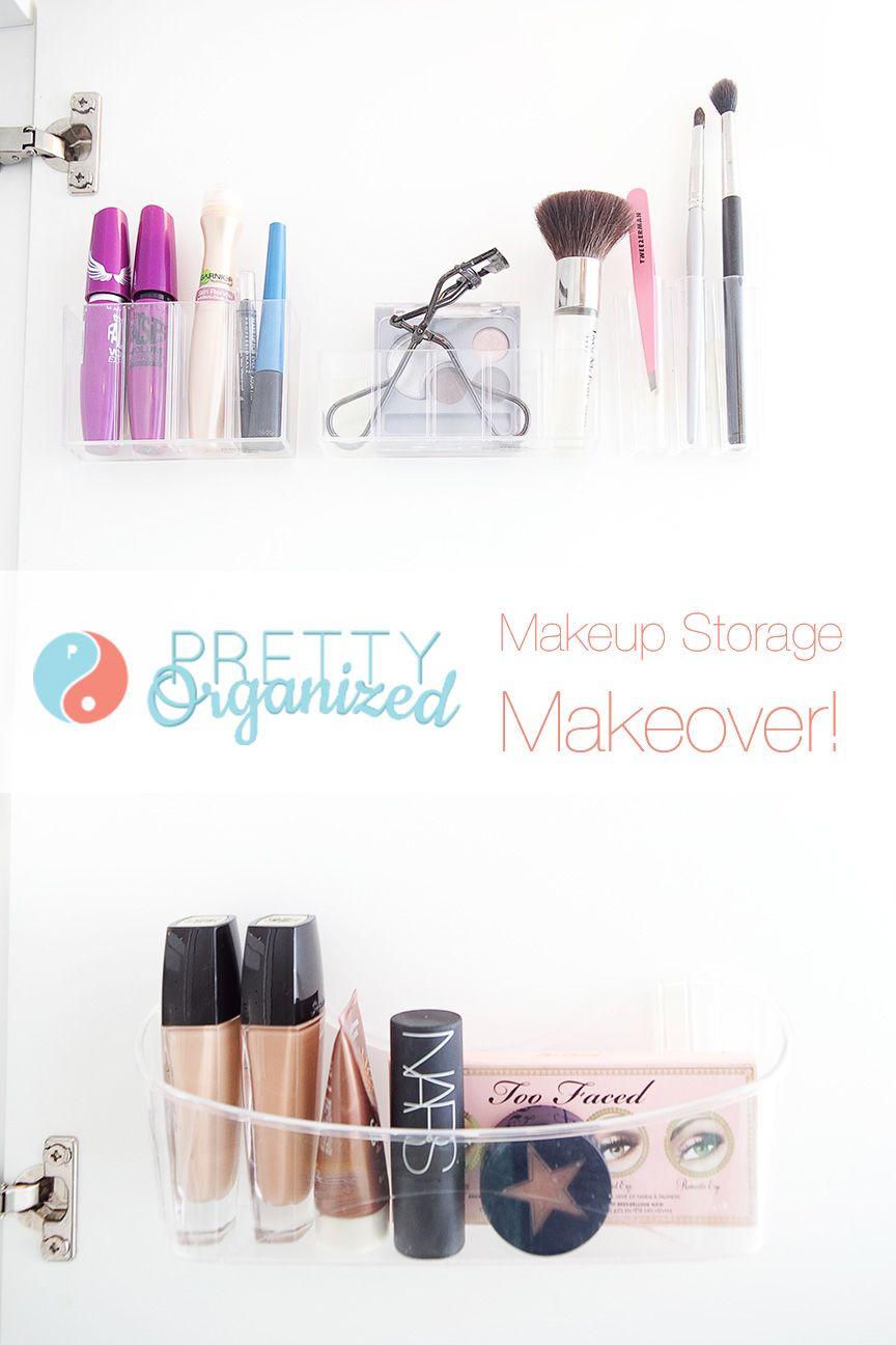 How to de clutter your beauty cabinet kendi everyday - Makeup Storage Ideas Plastic Makeup Organizers Attached Inside Cabinet Door
